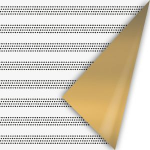Cadeaupapier herfst 21 wit met raster - goud (CWH) 2