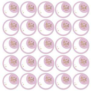 Sint stickers lila met goud 1