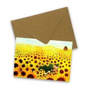 Kaart zonnebloemenveld, Esther Bennink 1