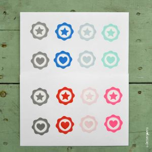 Sticker lichtrose ster Letterpers 2