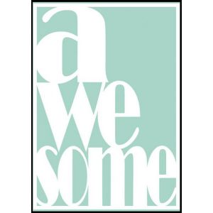 Sparkling Paper poster A3, Awesome mint 1