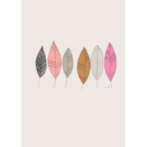 Poster veertjes of plumes A4 Minimel 1