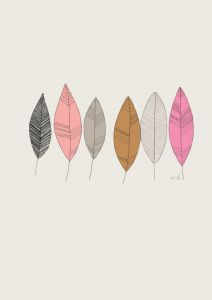 Poster veertjes of plumes A4 Minimel 2