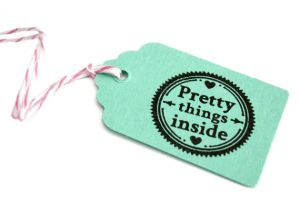 "Stempel ""Pretty things inside"" Miss Honeybird 2"