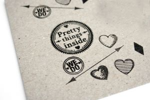 "Stempel ""Pretty things inside"" Miss Honeybird 3"