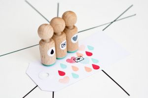 Mini stempel envelopje met hartje Miss Honeybird 4