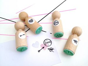 Mini stempel vogeltje, Miss Honeybird 4