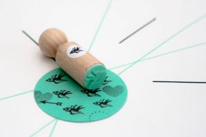 Mini stempel vogeltje, Miss Honeybird 2