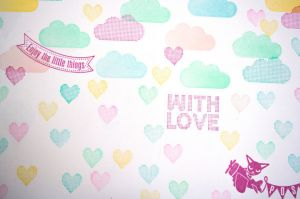 Mini stempel raster hartje Miss Honeybird 3