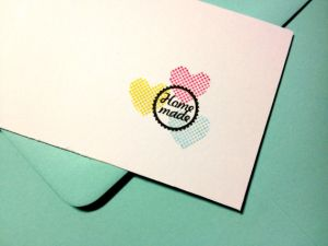 "Mini stempel ""Home made"" Miss Honeybird 2"