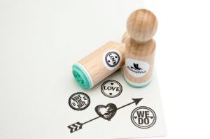 "Mini stempel ""Love"", Miss Honeybird 3"
