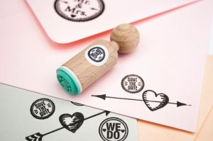 "Mini stempel ""Save the date"" Miss Honeybird 2"
