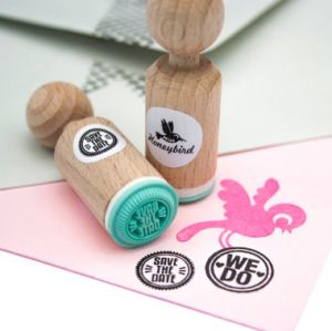 "Mini stempel ""Save the date"" Miss Honeybird 1"