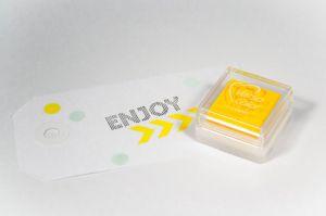 Stempelkussen geel Versacolor mini 2