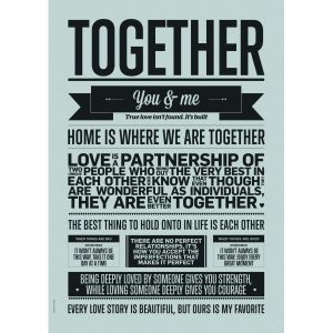 Together A3 poster, I LOVE MY TYPE 1