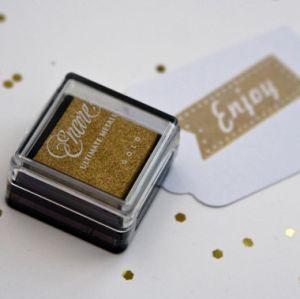 Encore goud metallic stempelkussen klein 2