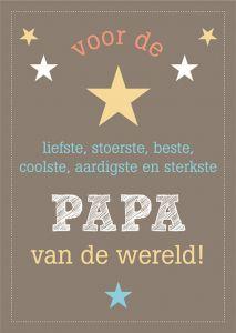 Papa of vaderdag kaart A6 bruin of zwart 3