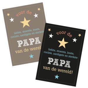 Papa of vaderdag kaart A6 bruin of zwart