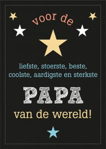 Papa of vaderdag kaart A6 bruin of zwart 2