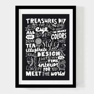 Treasures for the eye poster 50x70cm Paperfuel