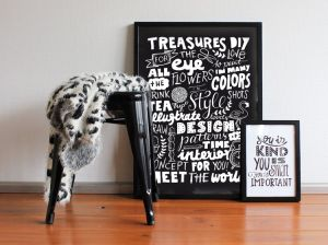 Treasures for the eye poster 50x70cm Paperfuel 2