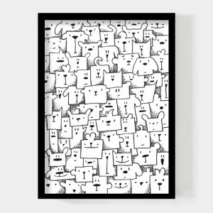 Boxed animals 50x70cm poster Paperfuel 1