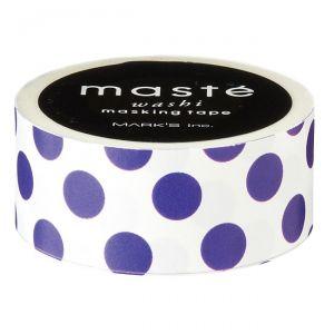 Wit met paarse polokadot maskingtape Masté