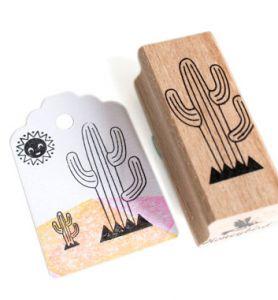 Stempel cactus (lijntjes) Miss Honeybird 1