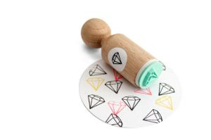 Mini stempel diamant Miss Honeybird 3