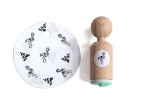 Mini stempel flamingo Miss Honeybird 2