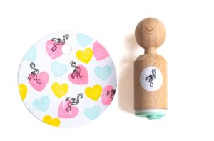 Mini stempel flamingo Miss Honeybird 5