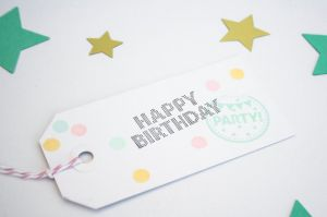 Stempel Happy Birthday Miss Honeybird 2