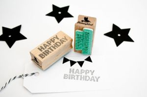 Stempel Happy Birthday Miss Honeybird 1