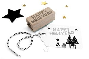 Stempel Happy New Year Miss Honeybird 2
