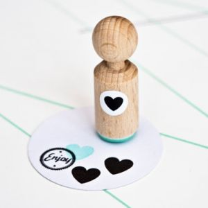 Mini stempel hartje Miss Honeybird 1