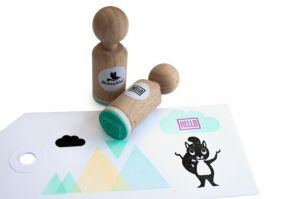 "Mini stempel ""Hello"", Miss Honeybird 2"