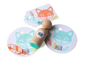 "Mini stempel ""Hello"", Miss Honeybird 3"