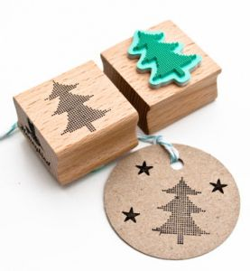 Stempel kerstboom, Miss Honeybird
