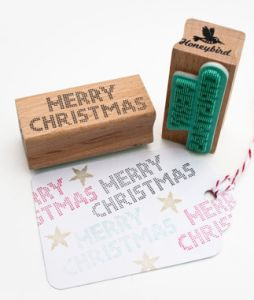 Stempel Merry Christmas, Miss Honeybird 2