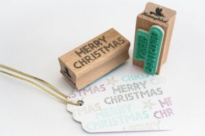 Stempel Merry Christmas, Miss Honeybird 1