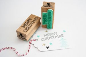 Stempel Merry Christmas, Miss Honeybird 4