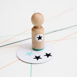 Mini stempel ster, Miss Honeybird 1