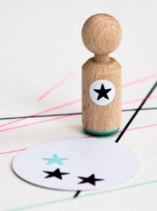 Mini stempel ster, Miss Honeybird 2