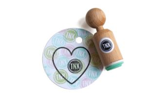 "Mini stempel ""TNX"", Miss Honeybird 2"
