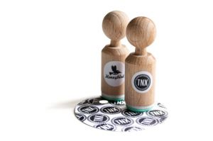 "Mini stempel ""TNX"", Miss Honeybird 4"