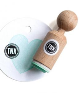 "Mini stempel ""TNX"", Miss Honeybird 1"