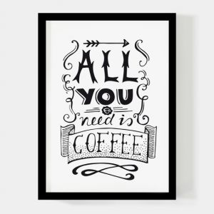 All you need is coffee, A4 poster Paperfuel 1