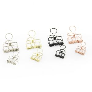 Binder clips zilver - goud - zwart 6