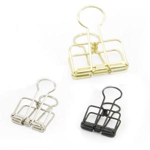 Binder clips zilver - goud - zwart 2