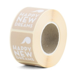 Happy New Dreams sticker nude/lila, Tinne+mia 2